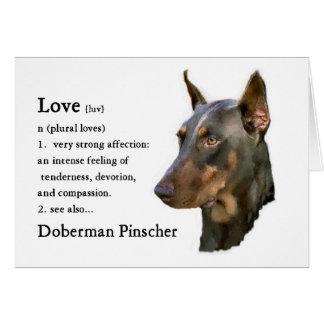 Regalos del Pinscher del Doberman Tarjeta De Felicitación
