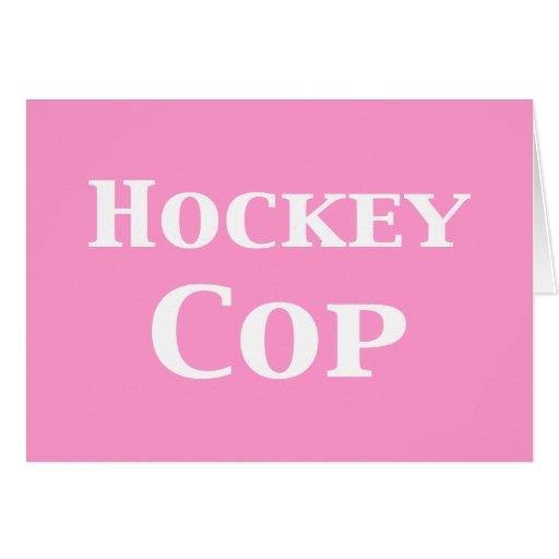 Regalos del poli del hockey tarjetón