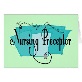 Regalos del Preceptor del oficio de enfermera Tarjeta De Felicitación
