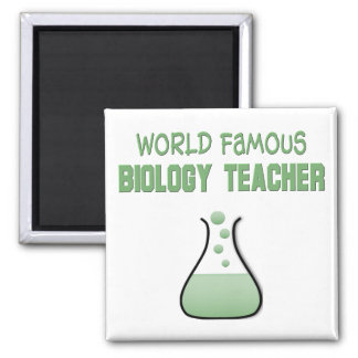 Regalos del profesor de biología imán cuadrado