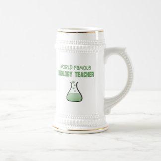 Regalos del profesor de biología jarra de cerveza