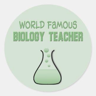 Regalos del profesor de biología pegatina redonda
