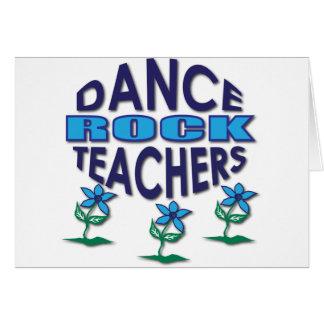 Regalos del profesor de la danza felicitacion