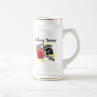 Regalos del profesor de la historia jarra de cerveza