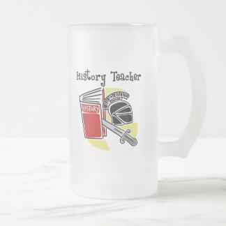 Regalos del profesor de la historia taza de cristal