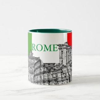 Regalos del recuerdo del viaje de Roma, Roma… Taza Dos Tonos