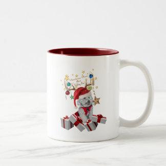 Regalos del reno del navidad de Cockapoo Tazas De Café