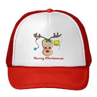 Regalos del reno del navidad de la enfermera gorros bordados