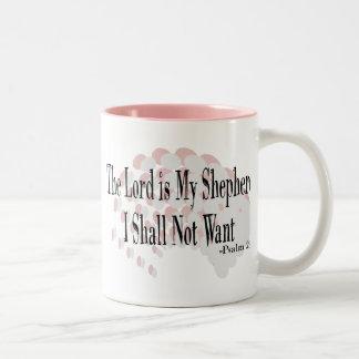Regalos del rezo del salmo 23 tazas de café
