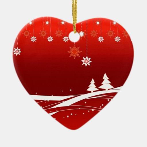 Regalos del rojo de las Felices Navidad Adornos