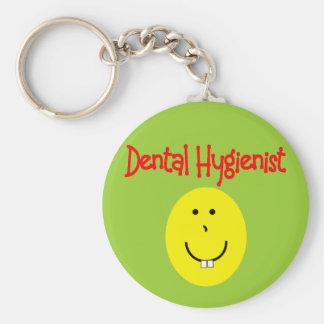 regalos del SMILEY del higienista dental---Diverti Llavero Redondo Tipo Pin