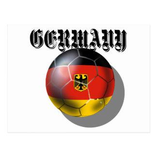 Regalos del spieler de Fußball del flagge de Deuts Tarjeta Postal