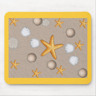 Regalos del tema de las estrellas de mar y de la p tapete de raton