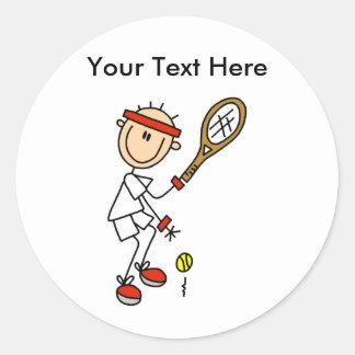 Regalos del tenis de los hombres personalizados pegatinas