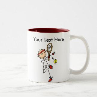 Regalos del tenis de los hombres personalizados tazas de café