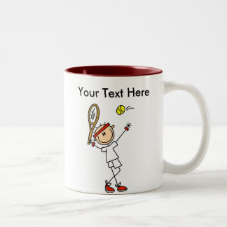 Regalos del tenis de los hombres personalizados taza de café