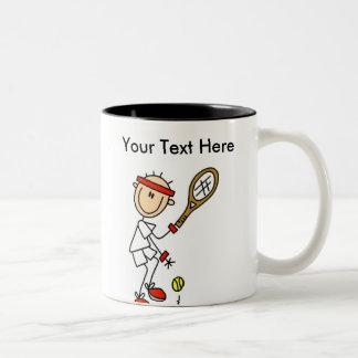 Regalos del tenis de los hombres personalizados taza