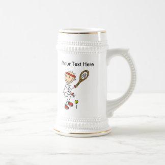 Regalos del tenis de los hombres personalizados tazas