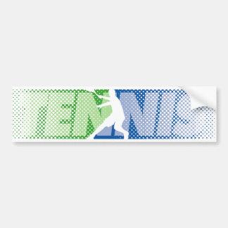 Regalos del tenis para los jugadores de tenis y lo pegatina de parachoque