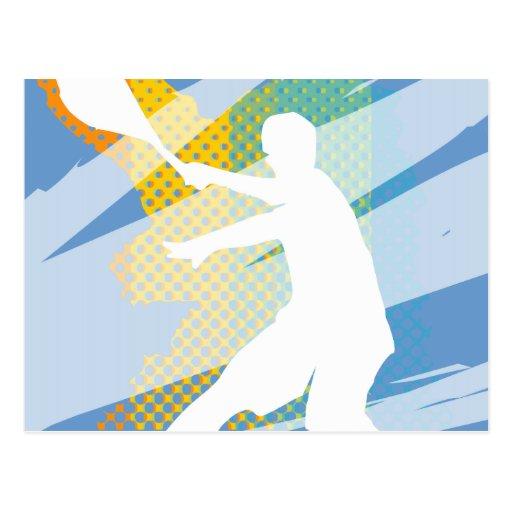 Regalos del tenis para los jugadores de tenis y lo tarjetas postales