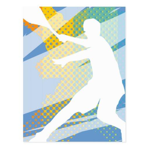 Regalos del tenis para los jugadores de tenis y lo postales