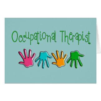 Regalos del terapeuta profesional tarjeta de felicitación