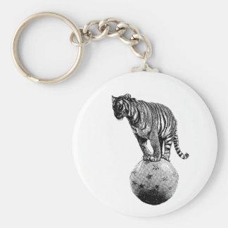Regalos del tigre del circo del vintage llavero redondo tipo pin