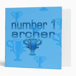 "Regalos del tiro al arco para él: Número 1 Archer Carpeta 2"""