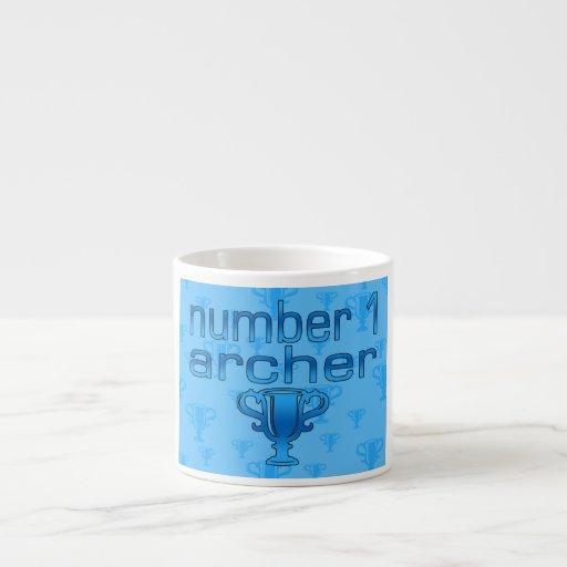 Regalos del tiro al arco para él: Número 1 Archer Taza Espresso