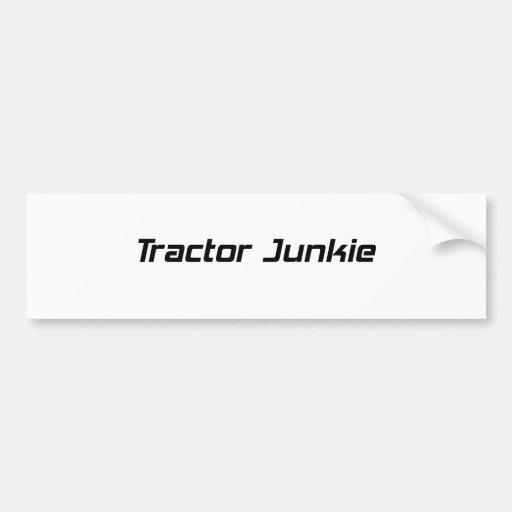 Regalos del tractor del drogadicto del tractor por etiqueta de parachoque