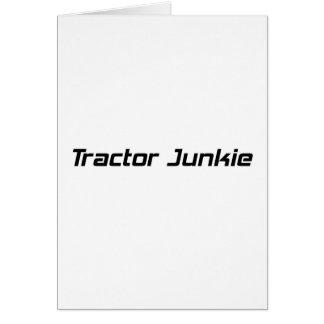 Regalos del tractor del drogadicto del tractor por tarjeta de felicitación