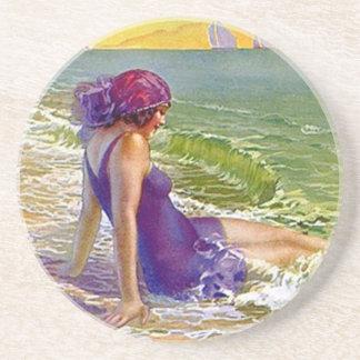 Regalos del traje de baño del ciruelo de playa de  posavasos cerveza