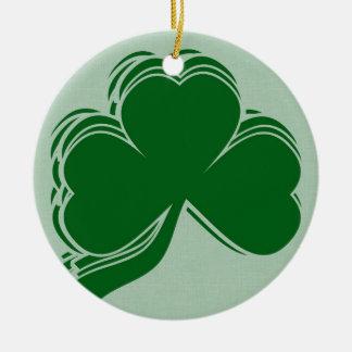 Regalos del trébol del día de St Patrick Ornamento Para Arbol De Navidad