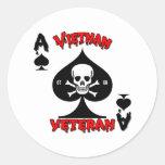 Regalos del veterano de Vietnam 67-68 Etiquetas Redondas