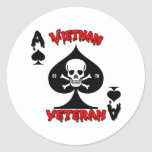 Regalos del veterano de Vietnam 69-70 Etiqueta Redonda