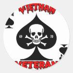 Regalos del veterano de Vietnam 69-70 Etiquetas Redondas