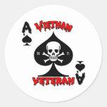 Regalos del veterano de Vietnam 70-71 Etiqueta Redonda