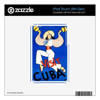 Regalos del vintage de Cuba iPod Touch 4G Calcomanías