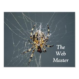 """'Regalos del Web de araña"""" Invitación 4.25"""" X 5.5"""""""