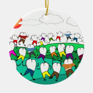 Regalos dentales caprichosos del arte del diente adorno de navidad