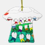 Regalos dentales caprichosos del arte del diente ornamento de navidad