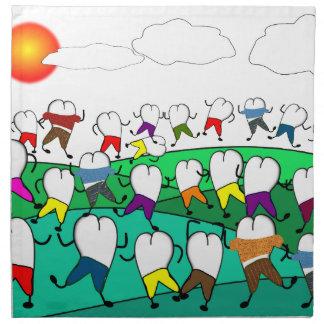 Regalos dentales caprichosos del arte del diente servilletas