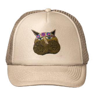 Regalos desaliñados divertidos y saludos del gato gorros