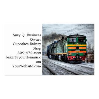 Regalos diesel de la locomotora del tren tarjetas de visita