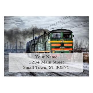 Regalos diesel de la locomotora del tren tarjetas de visita grandes
