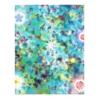 Regalos digitales del arte de la fantasía de la plantilla de membrete