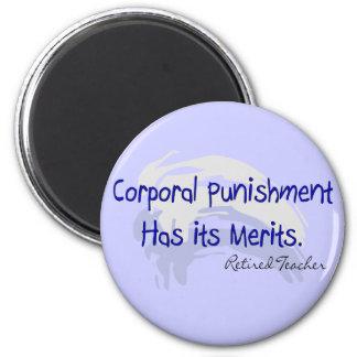 """Regalos divertidos """"castigo corporal del profesor… imanes"""