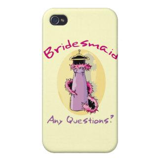 Regalos divertidos de la dama de honor iPhone 4/4S funda