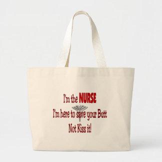 Regalos divertidos de la enfermera bolsa tela grande