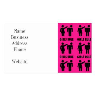 Regalos divertidos de la feminista de las rosas tarjetas de visita
